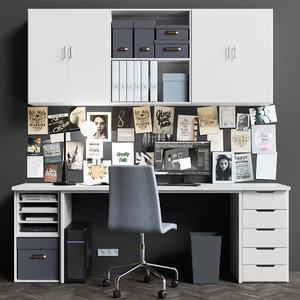3D model set offices