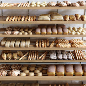bun bread loaf 3D