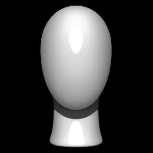 3D mannequin head man