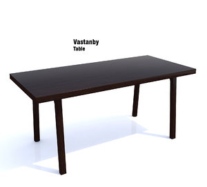 ikea vastanby table 3d model