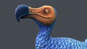dodo stylized 3D model