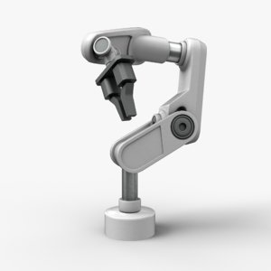 3D robotic arm fixed model