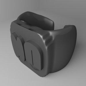 plastic ring 9 3D
