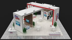 booth exhibit expo 3D model