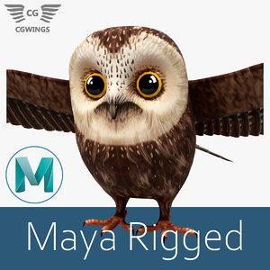 owl stylized model