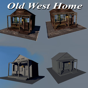 wood home old west 3D