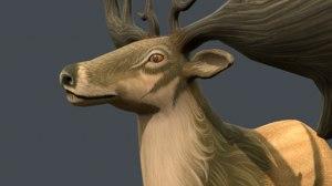 3D irish elk
