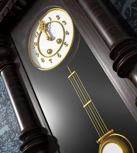 1800s wall clock 3D