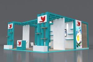 stall height 4 open 3D model