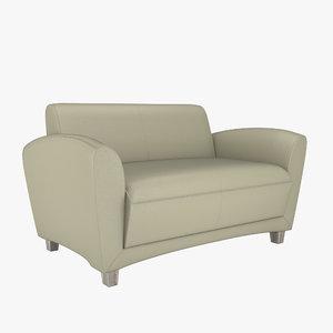 furniture sofa settee 3D model