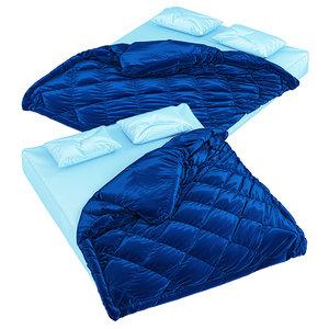 3D mattress pillows blanket model