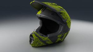 3D model moto helmet