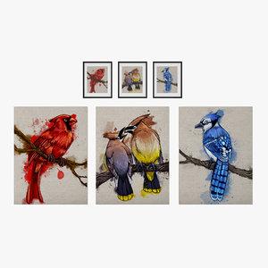 set paintings photoshop 3D model