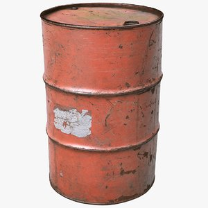 3D model scanned barrel