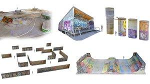 3D skate park scan pack