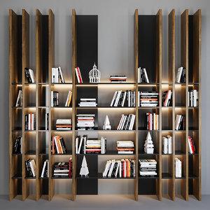 decor books 3D model