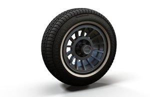 jeep wheel tire rim 3D