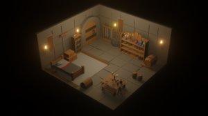 cartoon dungeon pack 3D model