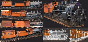 train wagon low-poly 3D model