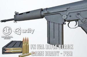 3D pbr rifle model