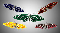 Low Poly Rigged Butterfly Collection