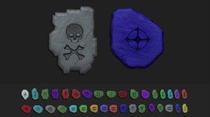 3D tibia - cgi printable model