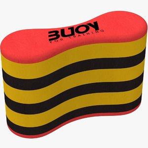 pull buoy multicolor 3D