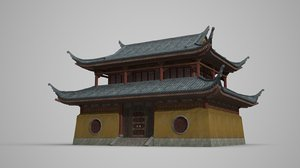 buddhist style dwellings 3D model