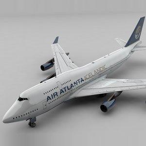 3D boeing 747 air atlanta