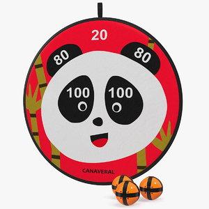 canaveral panda velcro dartboard 3D model
