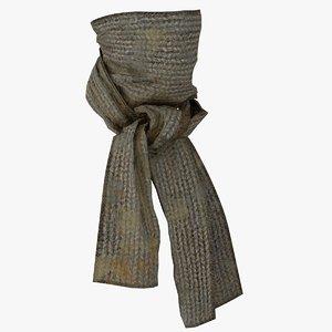 3D dirty scarf face