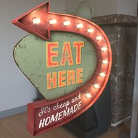 Arrow Sign EAT HERE