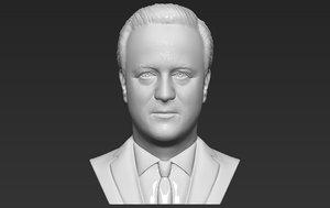 prime minister cameron bust 3D model