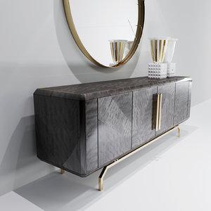 3D furniture mirror decor