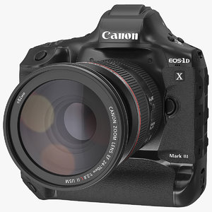 canon 1dx zoom lens 3D model