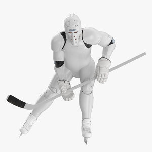 hummanoid hockey player wtih 3D model