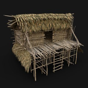 3D model nextgen tribal jungle