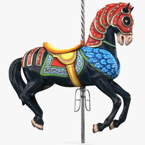 carousel horse black model