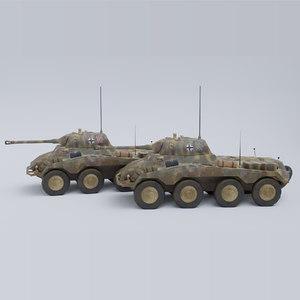 sdkfz 234-2 puma german ww2 model