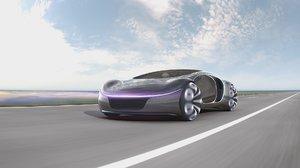 electric car 3D model