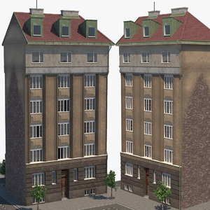 old building architecture 3D model