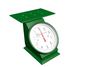 3D mechanical weighing scale