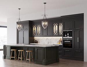 classic kitchen 2 3D