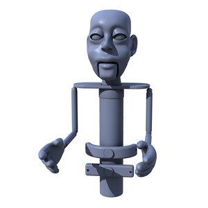 3D model puppet printing