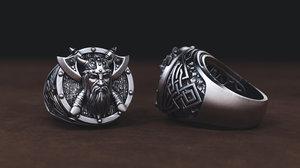 jewellery ring viking model