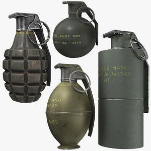 3D grenade pack model