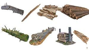 3D logs scan pack
