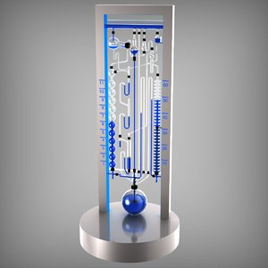 bernard time-flow water clock 3D model