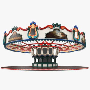 carousel fair attraction ride 3D