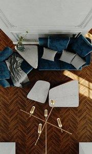 3D room furniture seat